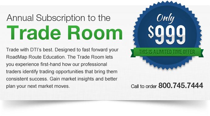Limited Time Offer for the Trade Room